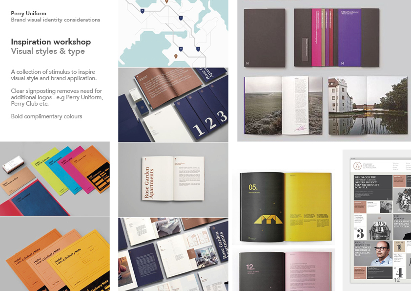 Inspiration for colours and typography