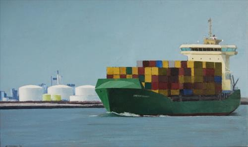 Gineke Zikken,  Containerschip