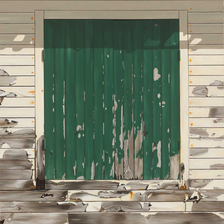 Peter van Oostzanen - Vader komt niet meer thuis (100 x 100 cm)