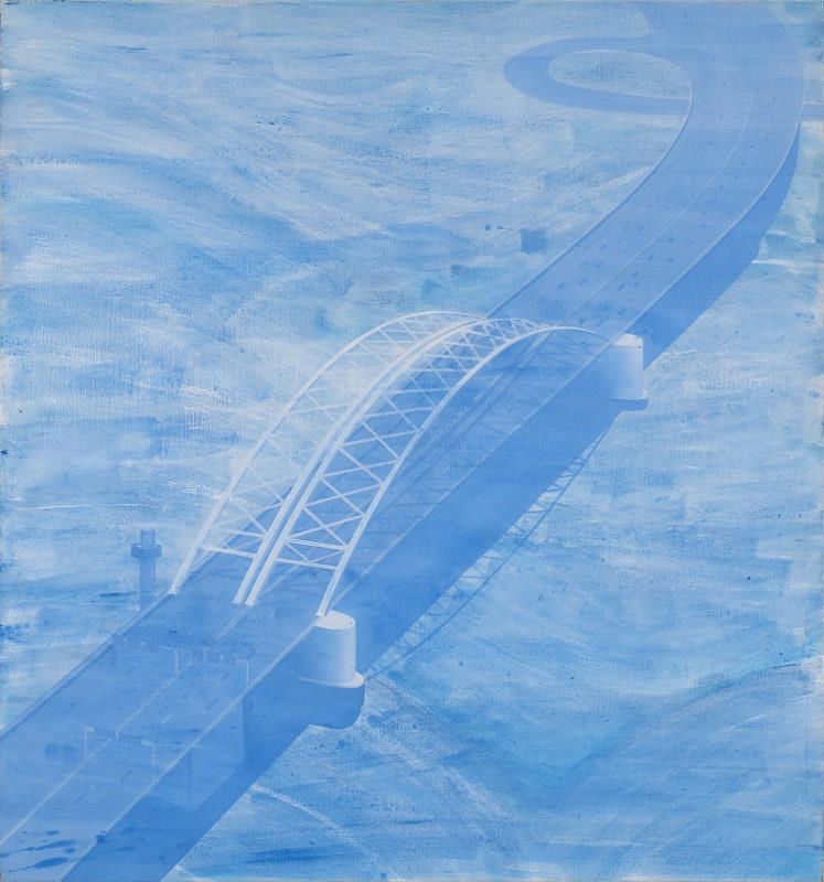 Hans Wap - Van Brienenoordbrug (140 x 130 cm)