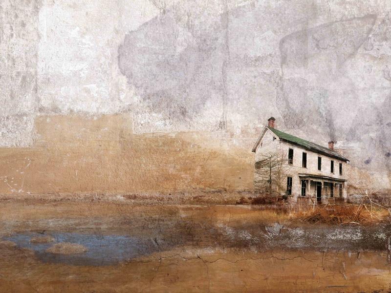 Laura Hoynck van Papendrecht - Solitary house 1 (75 x 100 cm)
