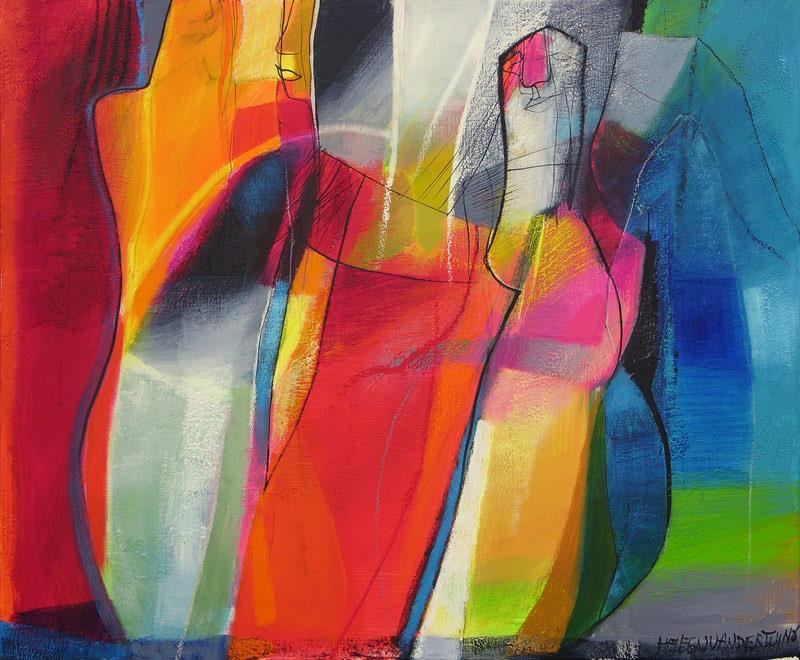 Heleen van der Tuin -  Cat 6196  (100 x 120 cm)