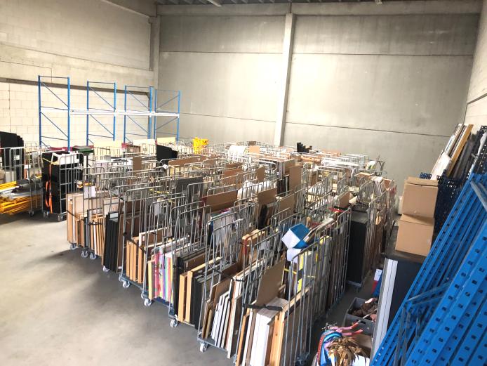 De verhuizing is in volle gang: het eerste deel van de collectie wordt naar het nieuwe depot in Utrecht gebracht.