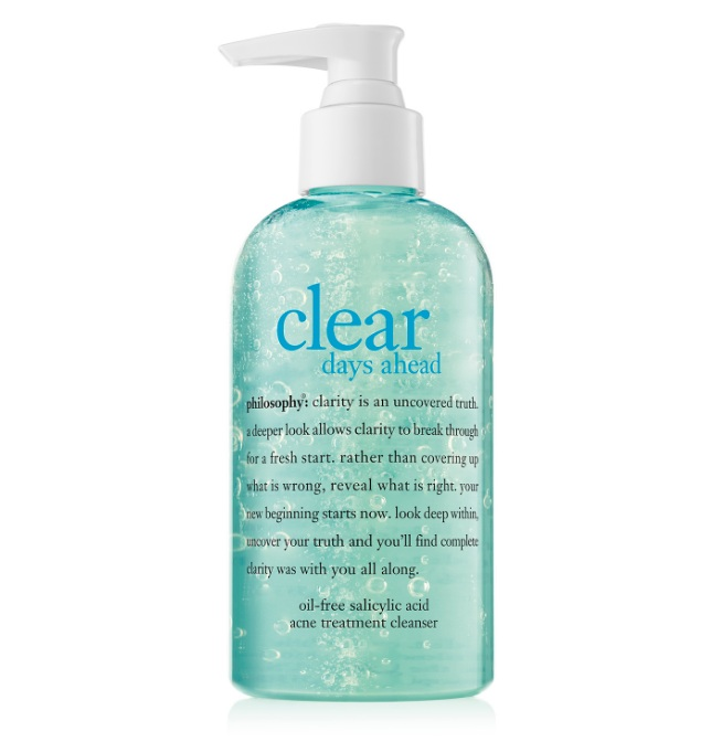 - 5. Philosophy Clear Days Oil-Free Salicylic Acid Acne Treatment CleanserAs I've said before, I love trying new skin care products, and I came across this while on the hunt for a new cleanser. I've been breaking out lately and believe this will be worth trying.