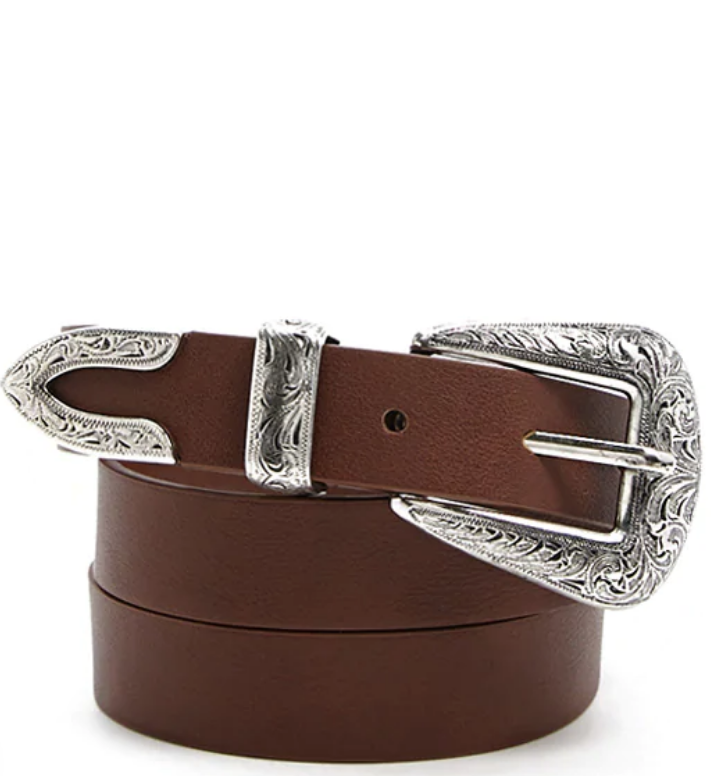 Yeehaw - This belt is a statement in itself, and its rustic feel is the perfect accessory to a pair with high waisted or bootcut jeans.