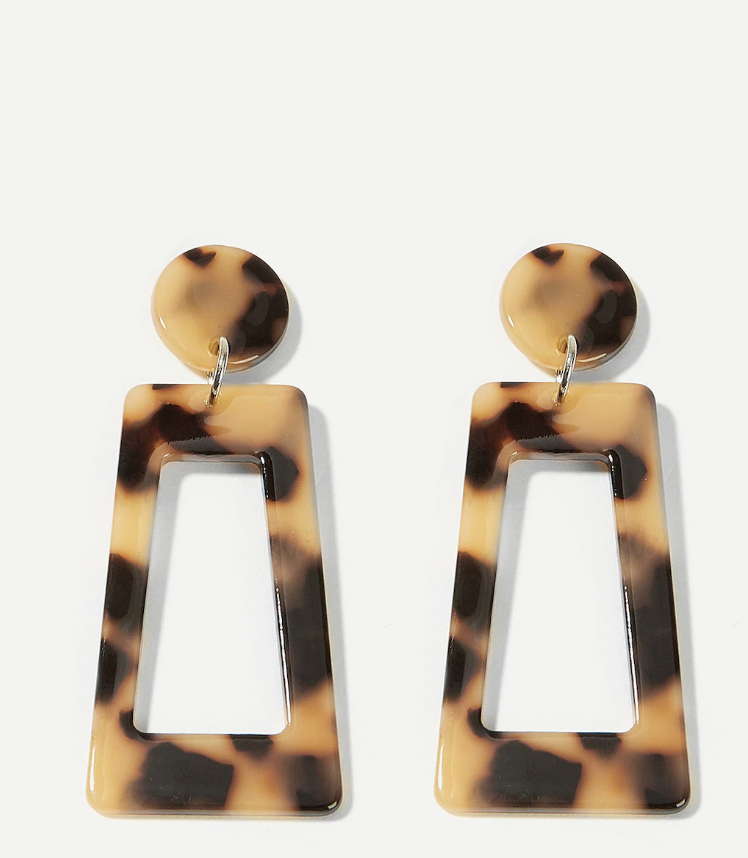 - Can never go wrong with a drop earring so spice up your look with a funky animal print jewelry.