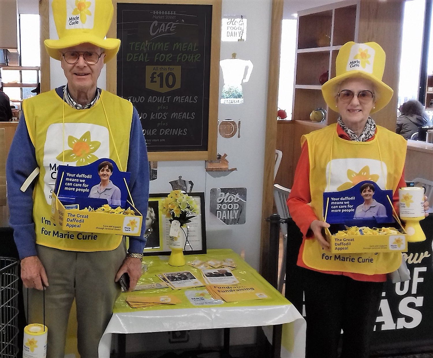 Club President Chris Lambert and his wife Carolyn helping with the Marie Curie Collections at Morrisons Beccles.