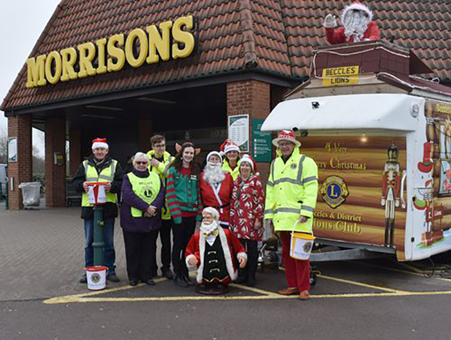 OUR CHRISTMAS APPEARANCES at most of the local Supermarkets are always popular with the children and everyone's generosity raises welcome amounts for our Charity funds.