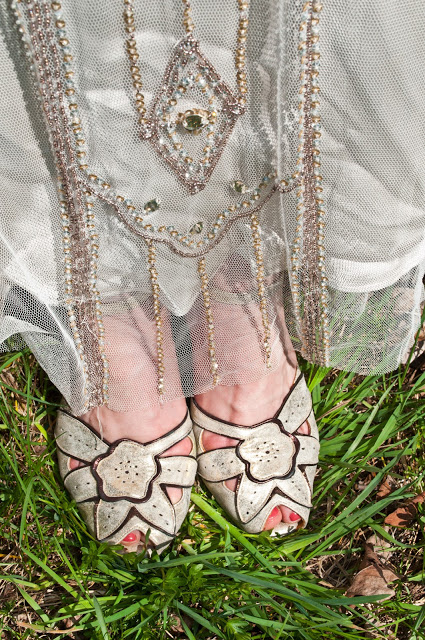 Summer opted for ballroom shoes for comfort and style.