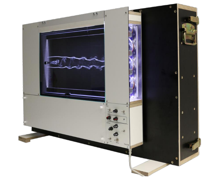 Mini Visualization Wind Tunnel JW500 - For demonstrating some basic aerodynamic principles , SMART BLADE offers a mini visualization wind tunnel designed by Dipl.-Ing. Jürgen Wagner. It is the ideal and affordable wind tunnel for lectures and exhibitions.