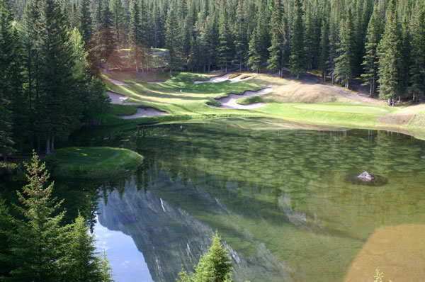"""The Devil's Cauldron"" at the Banff Springs Golf Course.  Photo credit:    Golf City"