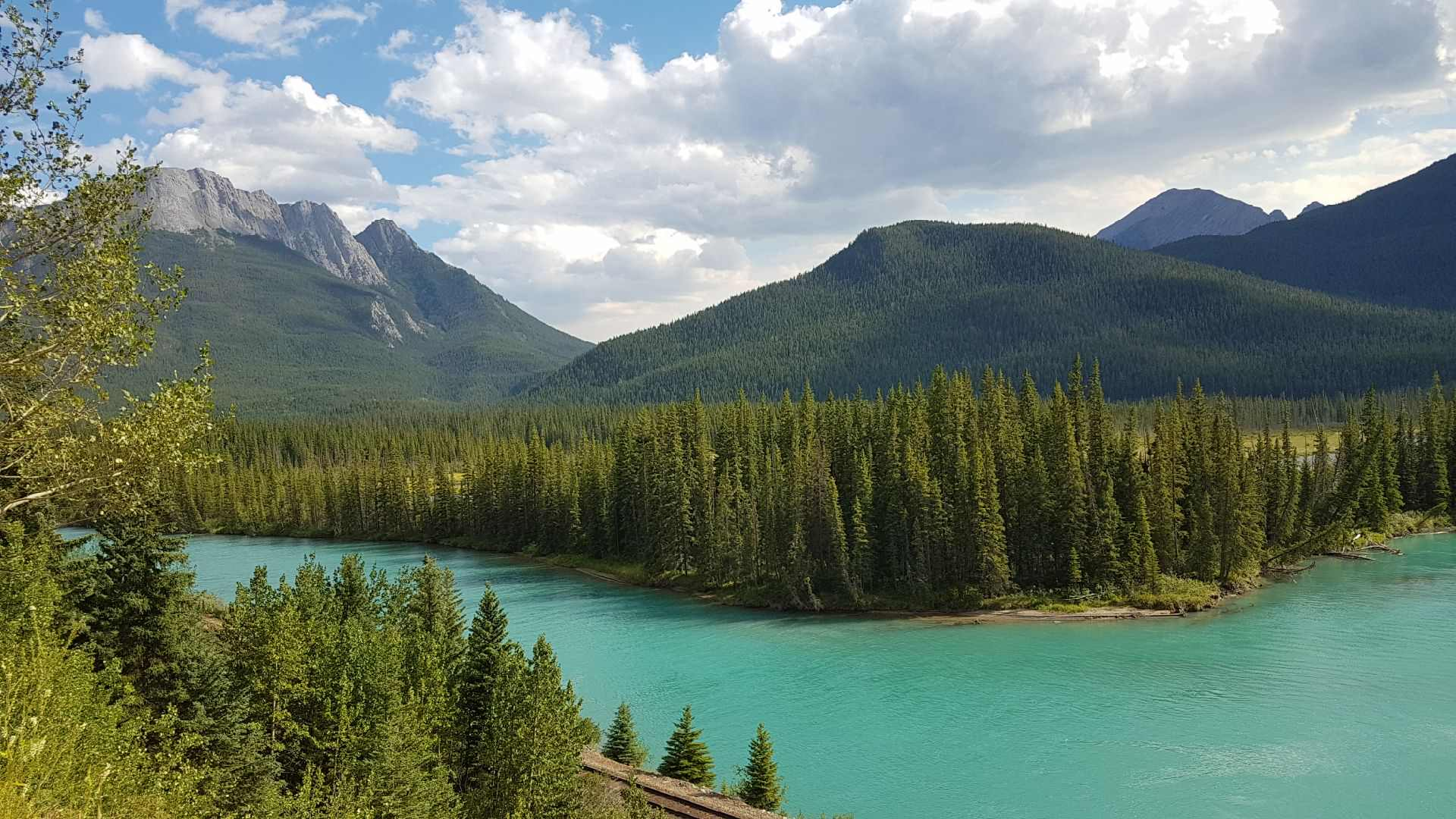 One of the views from the Bow Valley Parkway of the Bow River.