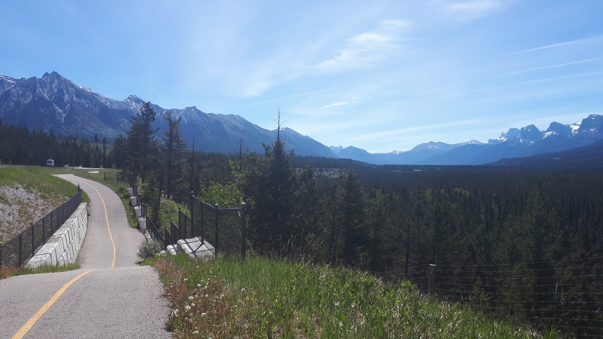 The Legacy Trail heading towards Canmore.