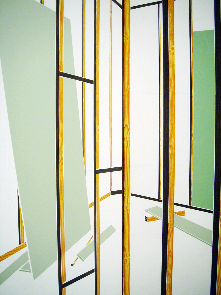 """Annex (detail), 2007, Contact Paper, Pantone, Dimensions Variable (approx 71"""" x 86"""" x 96"""")"""