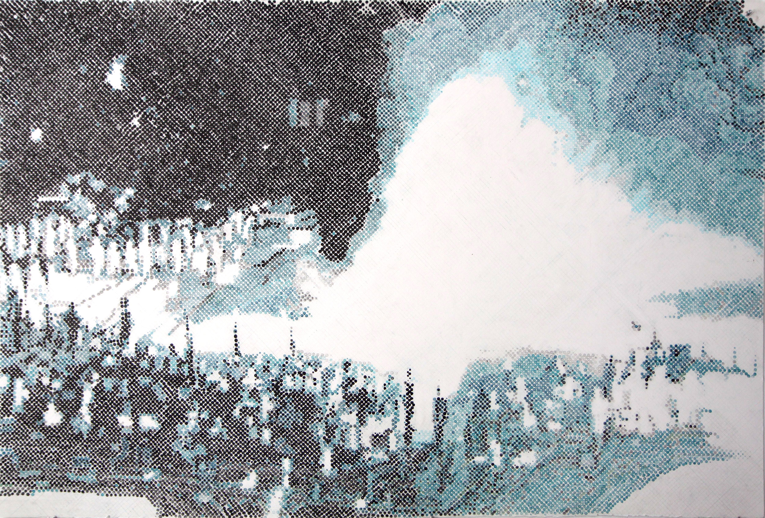 Bebelplatz III, 2010, Colored pencil on paper, 40.4 x 60.5 inches