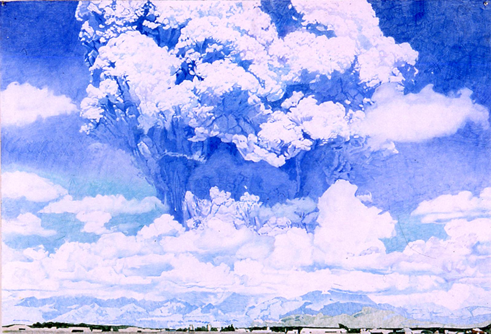 Blue Pinatubo, 1999, Colored pencil on paper, 41 x 60 inches, Progressive Collection