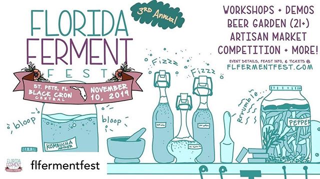 We are thrilled of been part of the 3rd annual Florida Ferment Festival @flfermentfest save the date. We'll be teaching a super fun workshop 🔥🔥🔥 more info at https://www.flfermentfest.com/