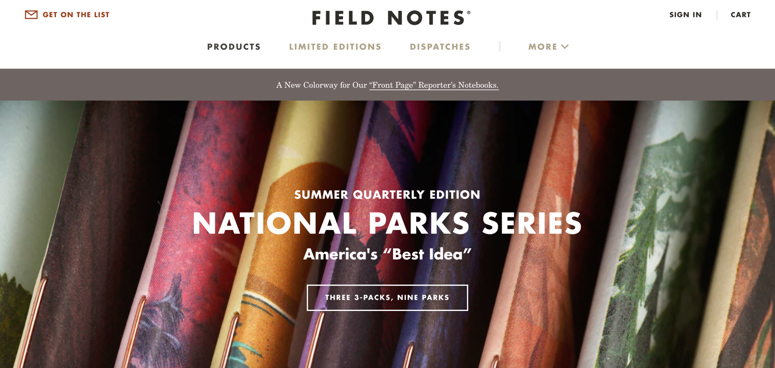 The Field Notes website