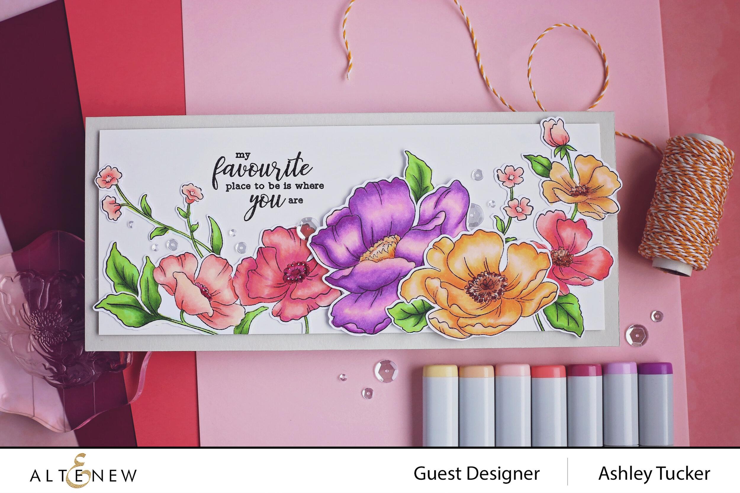 Altenew - Poppy Garden Stamp Set and Across the Pond Stamp Set - Ashley Tucker - 1.jpg