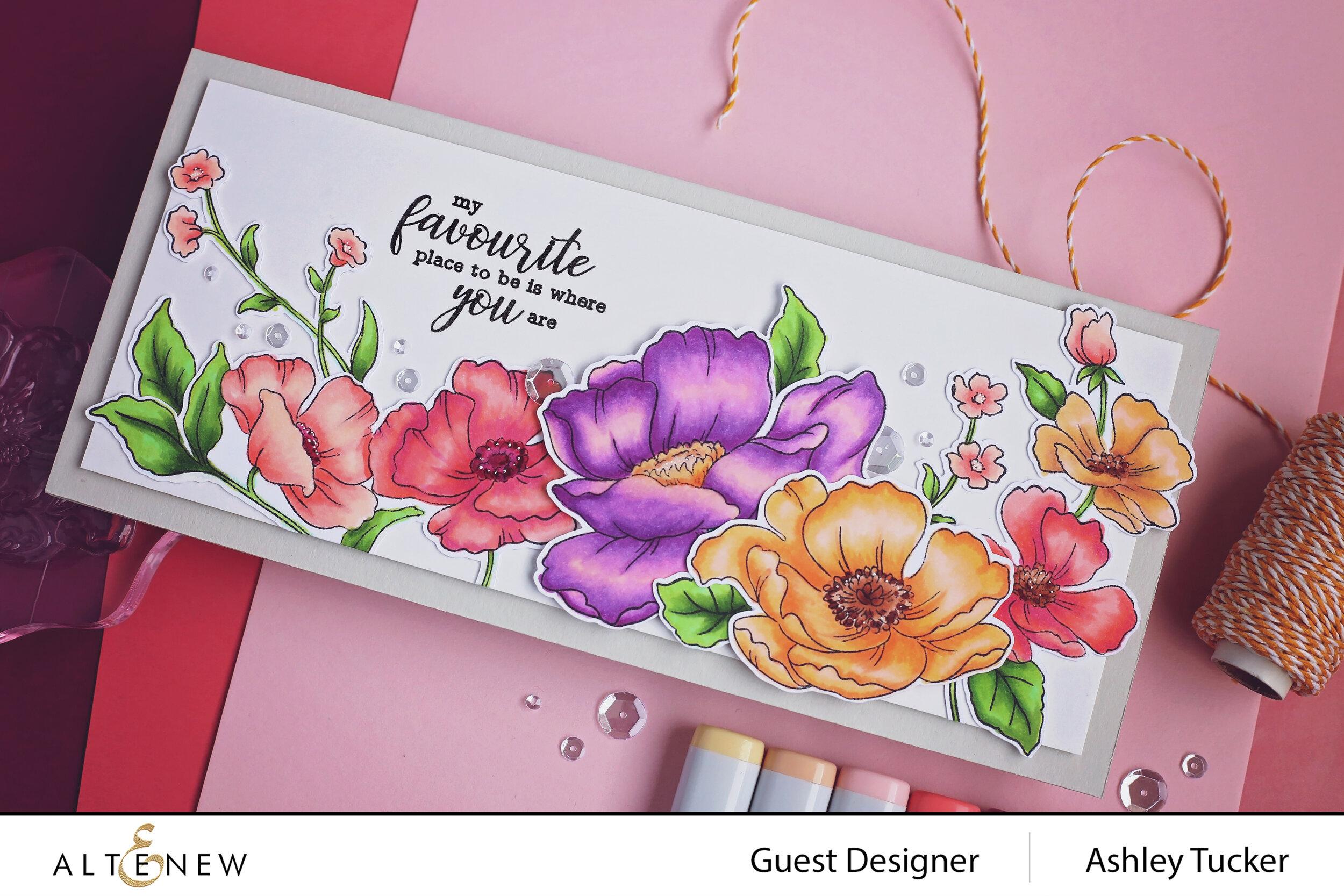 Altenew - Poppy Garden Stamp Set and Across the Pond Stamp Set - Ashley Tucker - 4.jpg