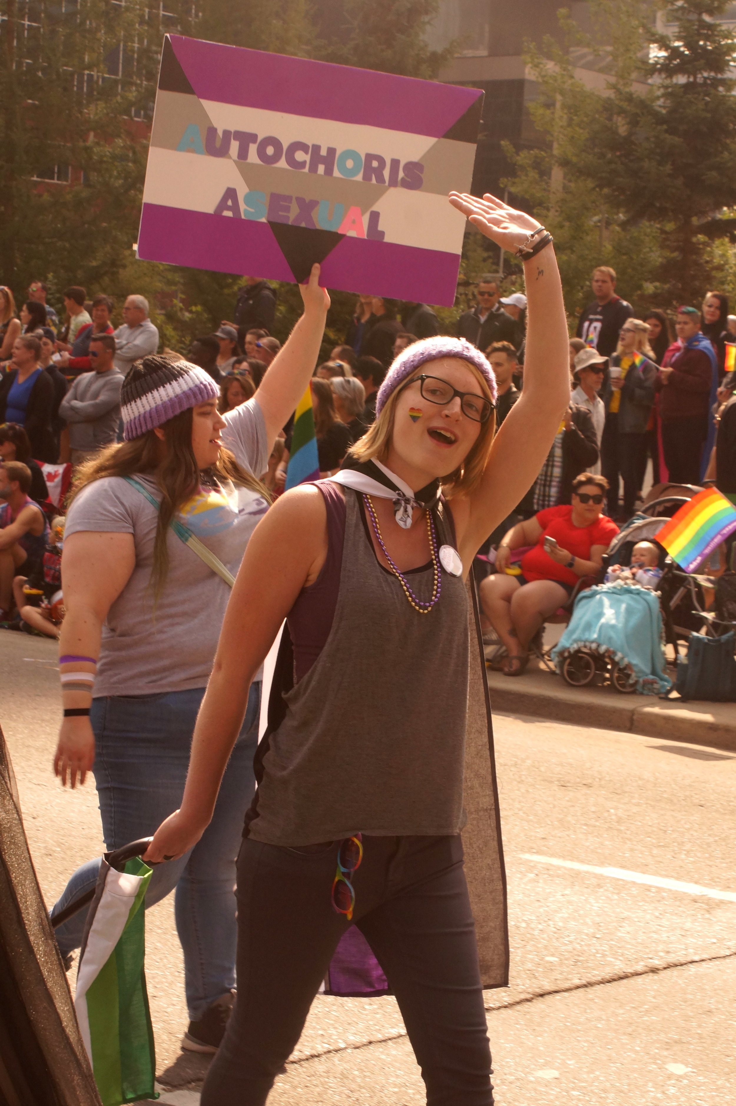A member at Pride 2018 Photo Credit: Paul Wiebe