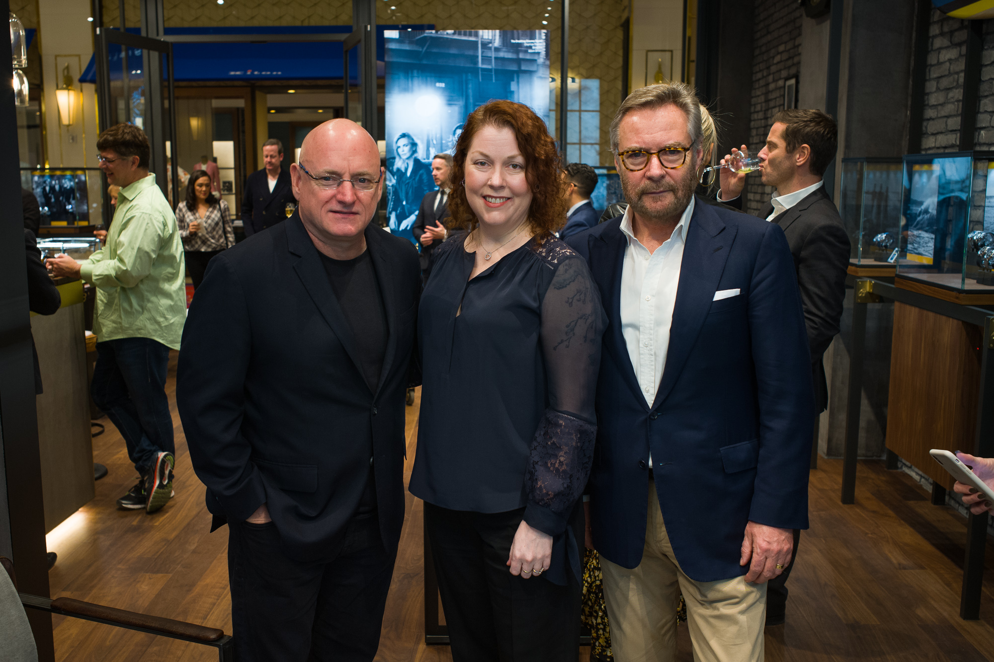 Commander Scott Kelly, RedBar CEO Kathleen McGivney, and WoS CEO Brian Duffy at the opening of the new Breitling Boutique at the Wynn.