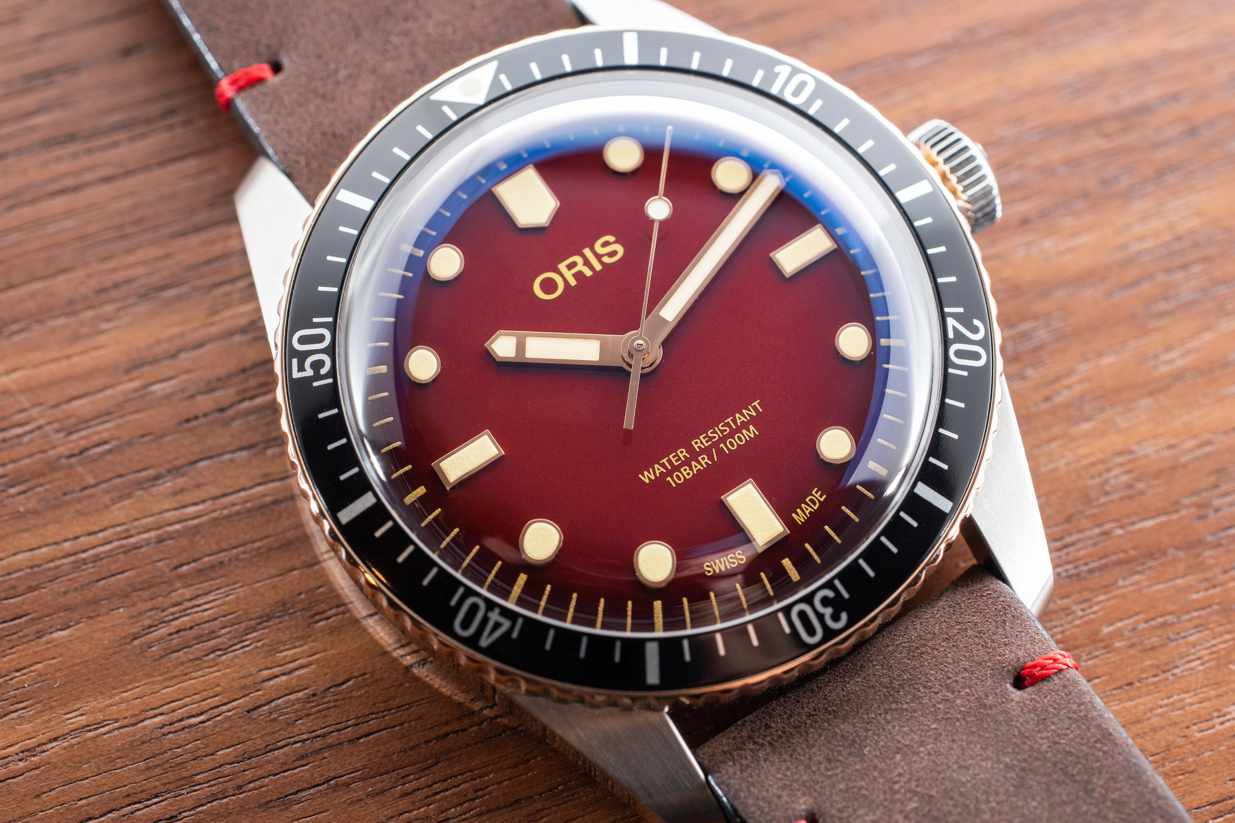 The Oris Divers Sixty-Five RedBar Limited Edition. Photo: Atom Moore