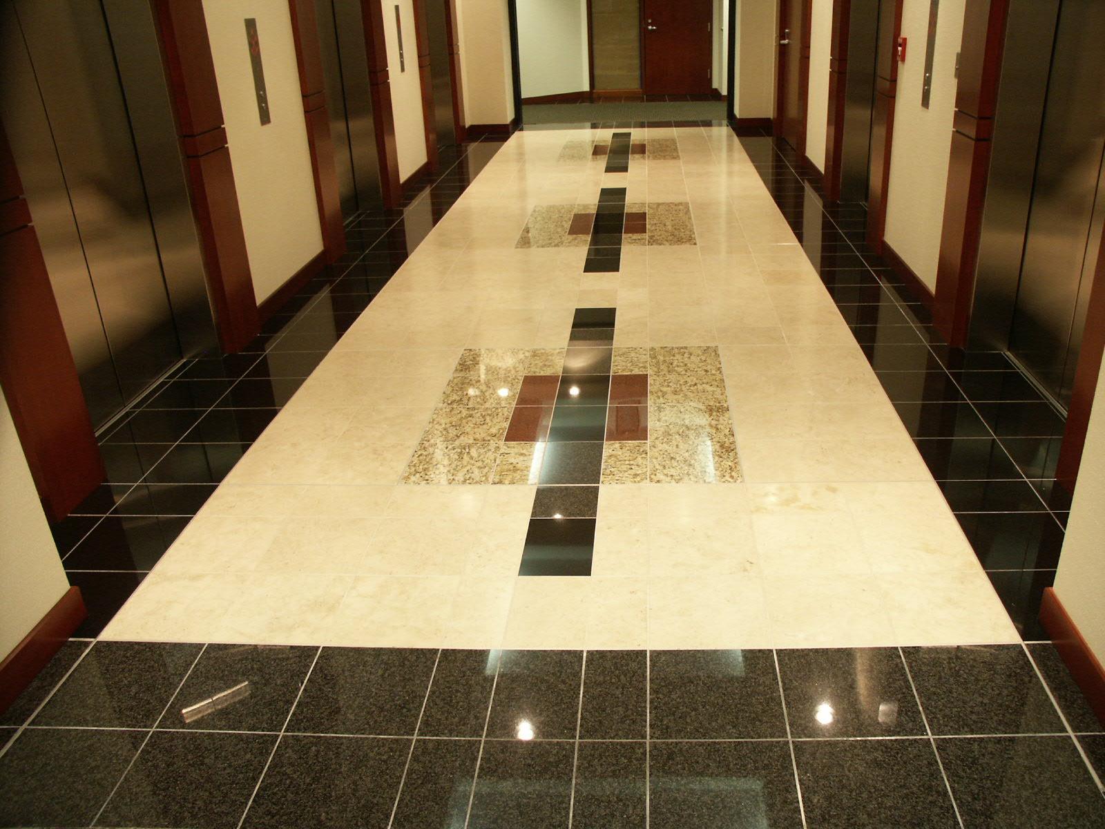 Custom designed stone Elevator Lobby.JPG