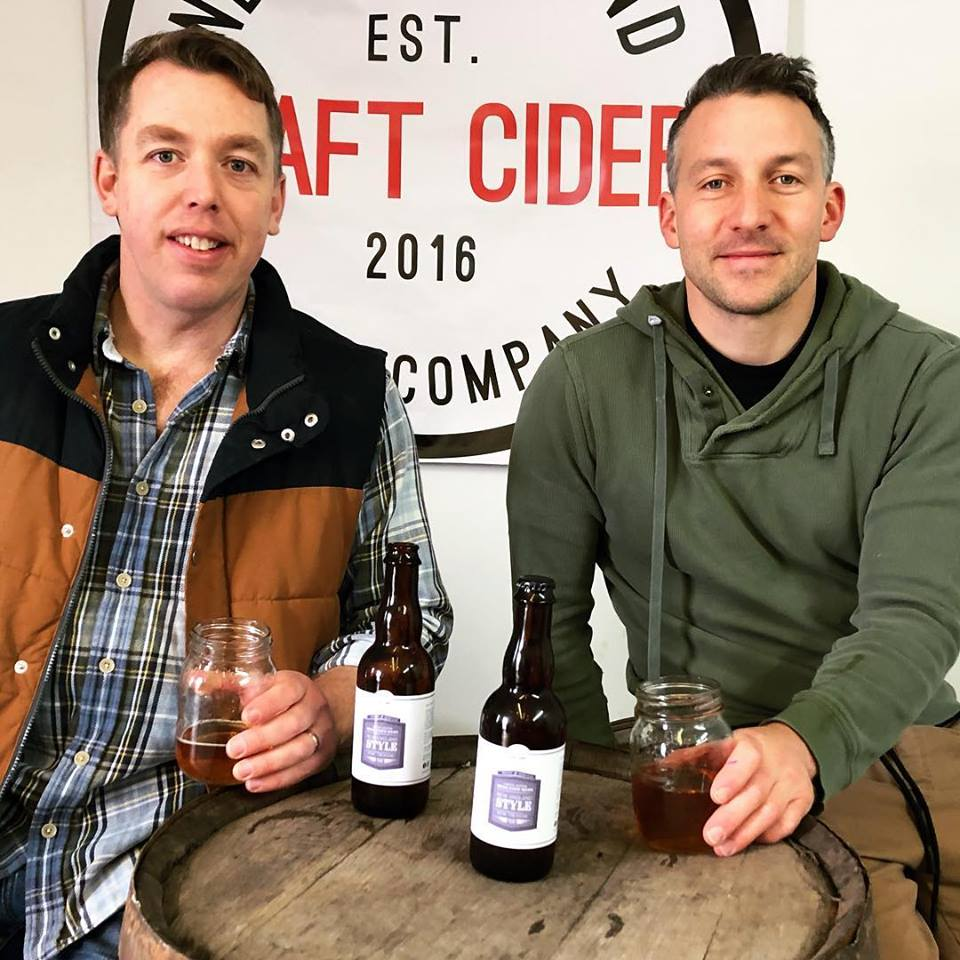 Chris Adams and Marc Poirier. (Photo courtesy of the Newfoundland Cider Company).