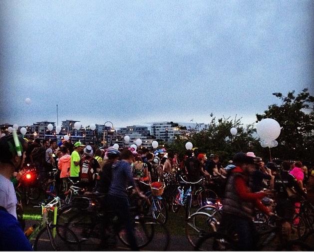 Bike Rave : a biking event in Van