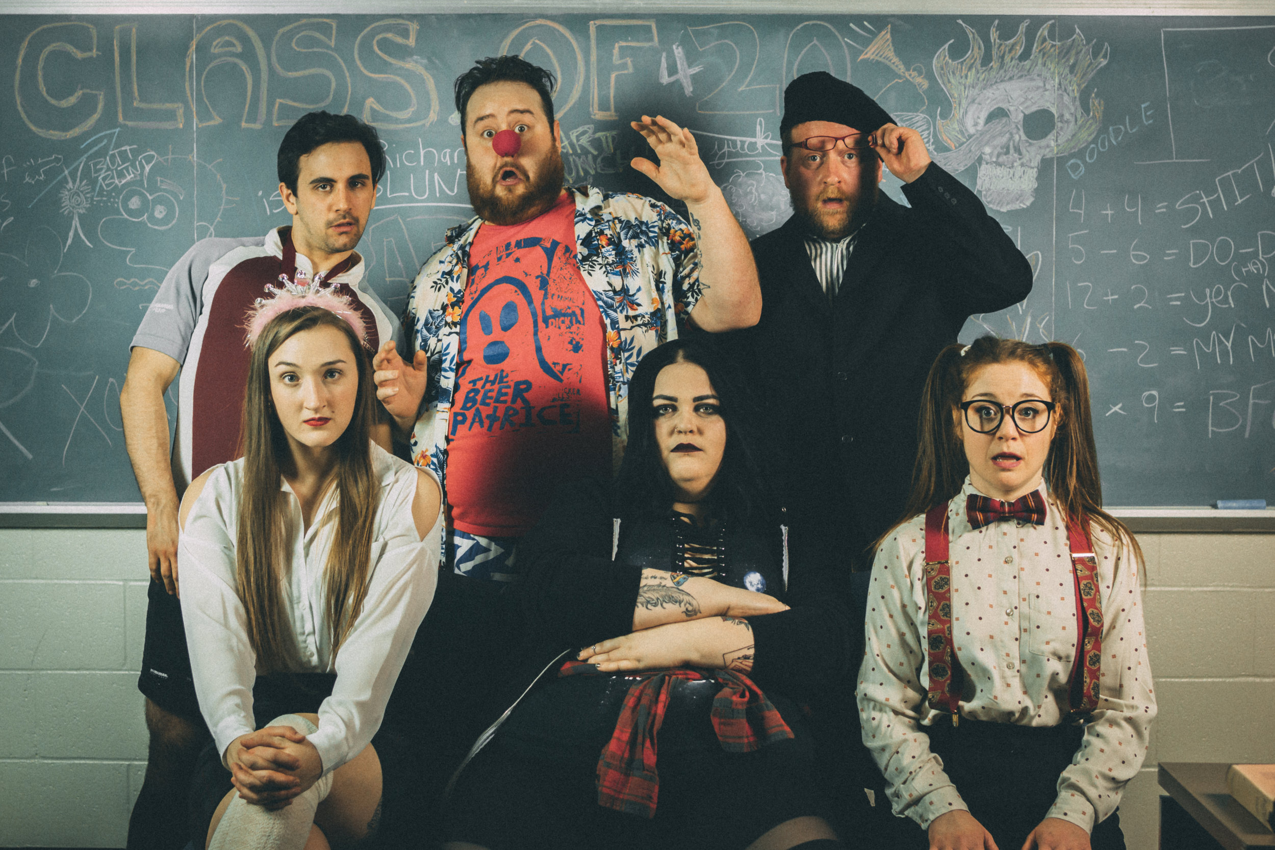 The cast of  Almost Baymous 3 , icluding The Racket's own Stephanie Curran.