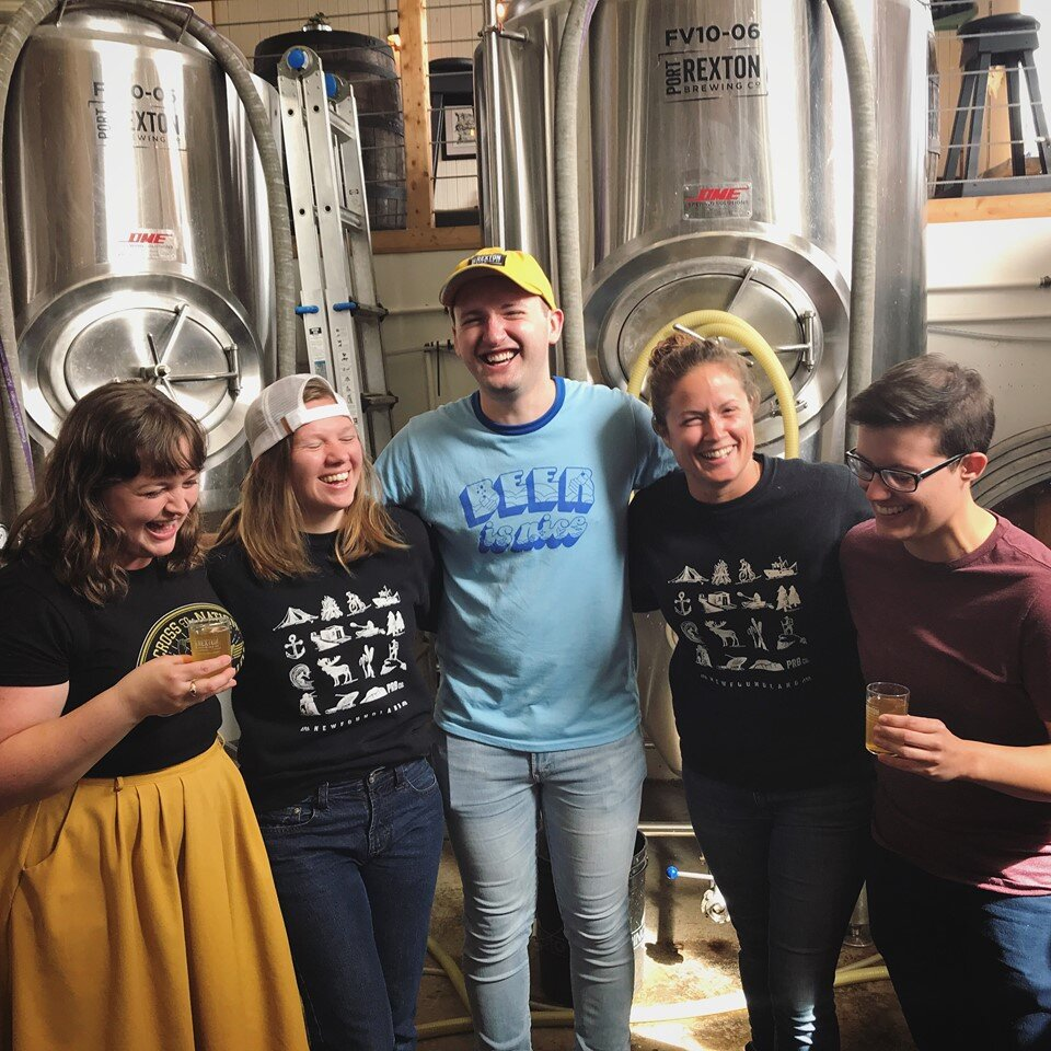 Terra Barrett, Natalie Dignam, Aaron Patey, Alicia MacDonald & Stacey Pike. Photo courtesy of Queer Beer.