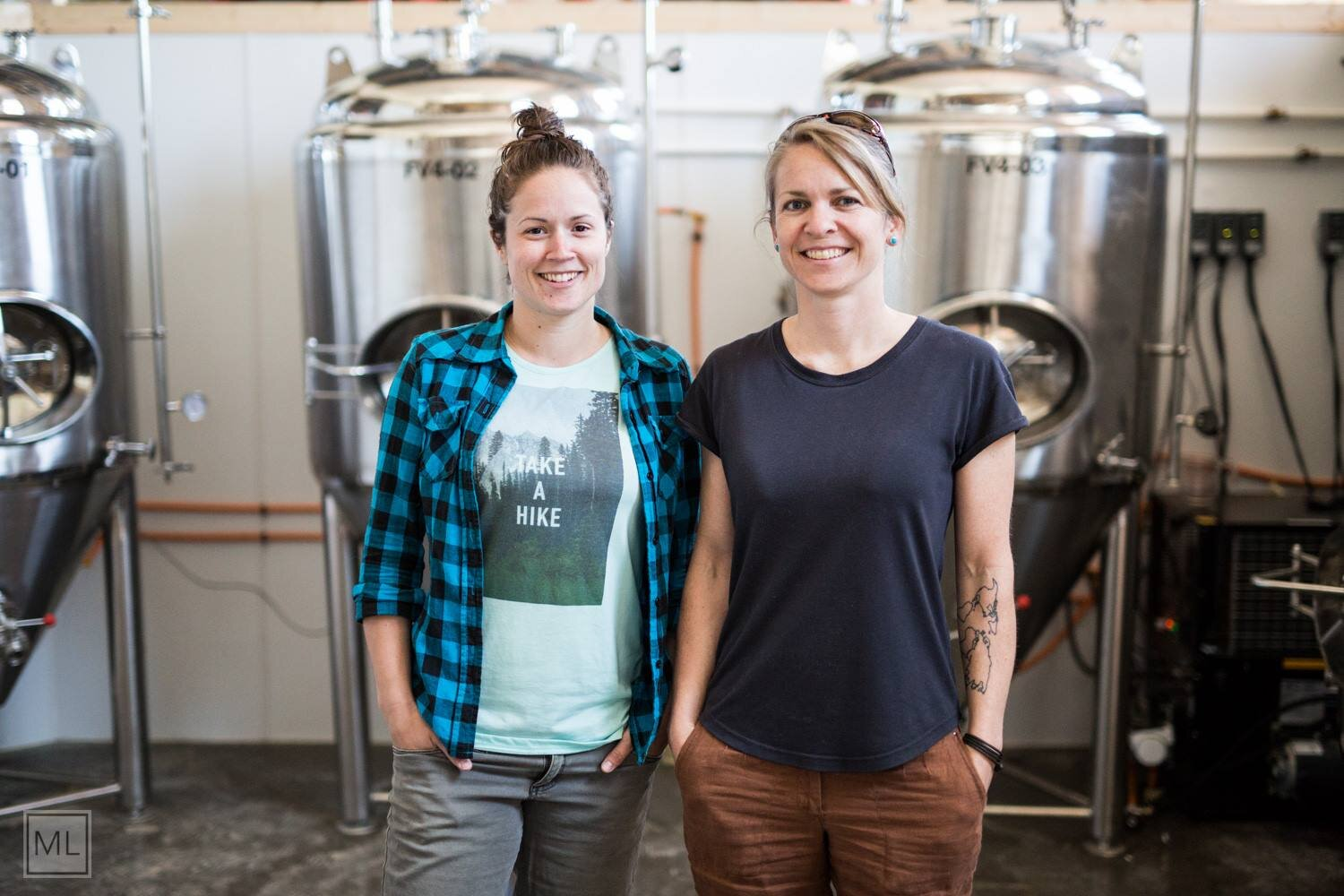 Port Rexton Brewing Co. owners Alicia MacDonald & Sonja Mills (Courtesy of Port Rexton Brewing Co.)