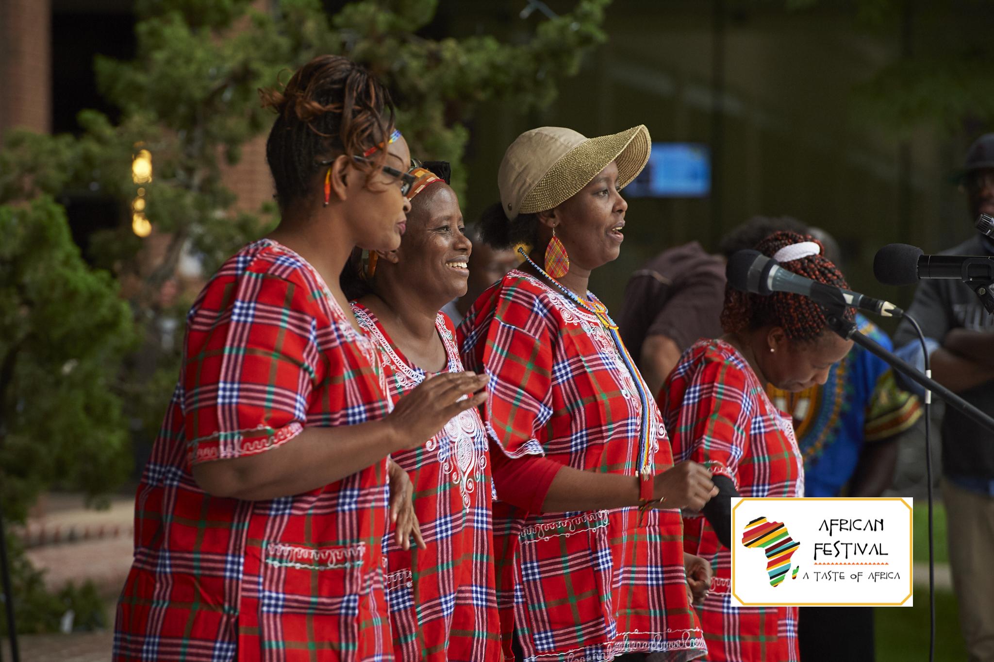 Kenyan Samburu and Maasai Singers and Dancers