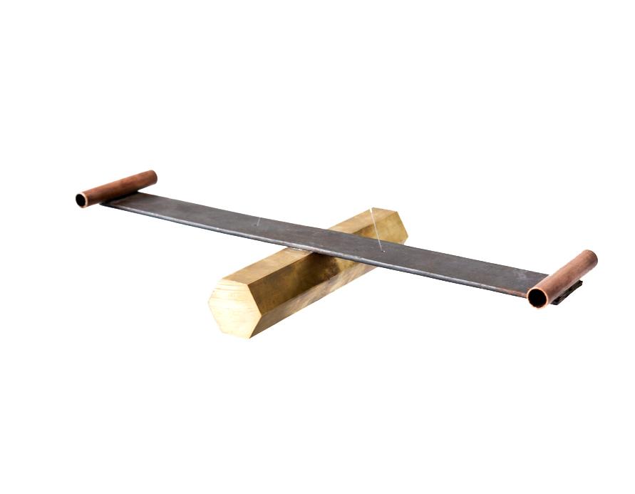 Tlapucata II.  Cobre, fierro y latón 5 x 38 x 11 cm FECHA