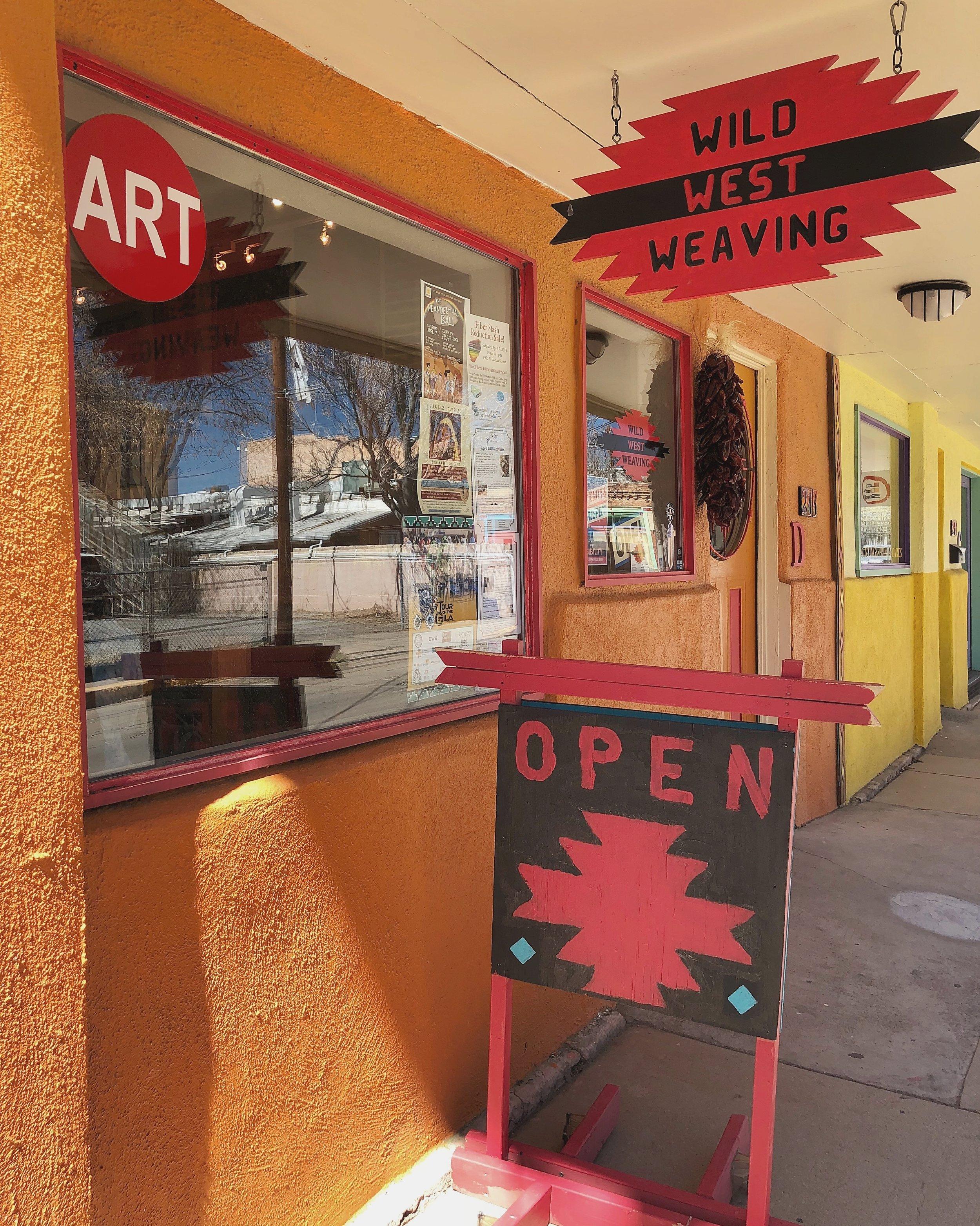 Wild West Weaving - Jimmi McCraw - Hosana Eilert211 N. Texas Street Suite DSilver City, NM 88061Tel: 575-313-1032wildwestweaving@gmail.com