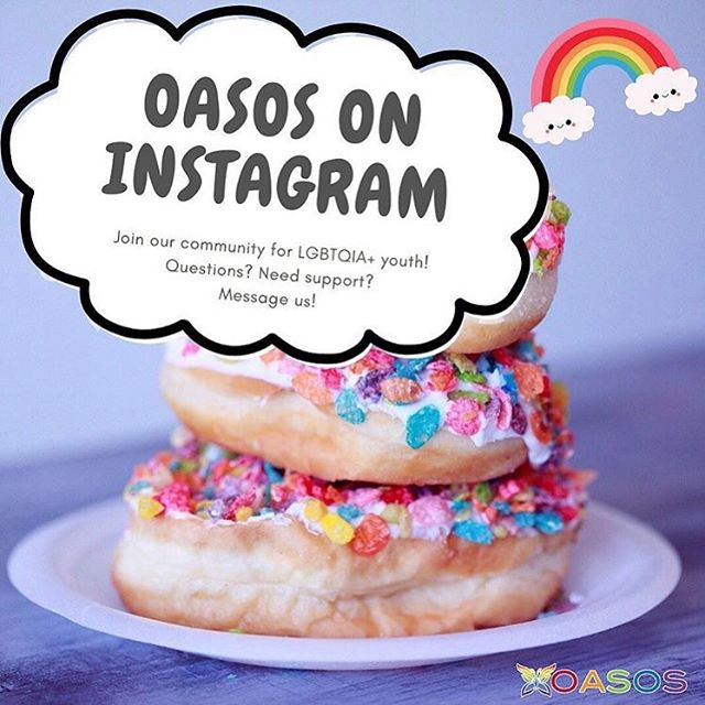 Happy pride y'all. ✨✨ Sharing the new account @oasosnetwork we've created at my day job. follow for cool program updates and general queer and trans youth love. And of course share our info with any lgbtqia+ youth looking for support in boulder county. ♥️✨