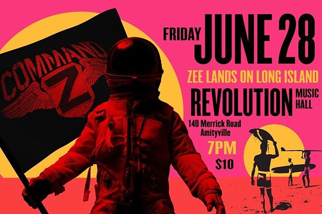 THIS FRIDAY NIGHT THE ZEE  LANDS ON LONG ISLAND  7pm At Revolution in Amityville  #SeeTheZee