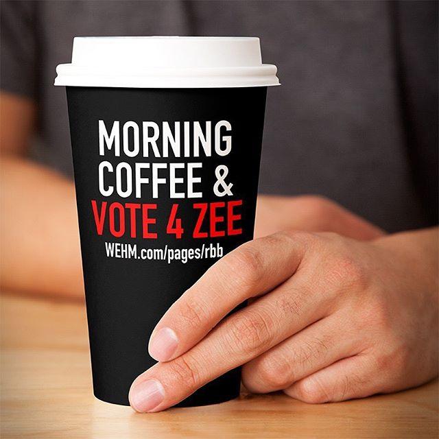 Morning routine: Get caffeine and Vote Zee in @wehmradio  #realbandbattle LINK IN BIO  @anthonysfavs @greatsouthbaymusicfestival @dreamrecordingstudios  @commandznyc #SeeTheZ