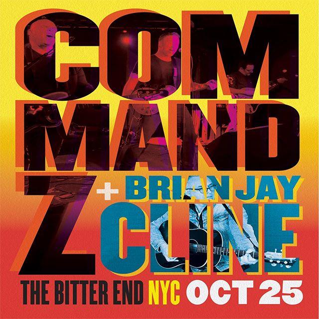 EPIC ROCKTOBER DOUBLE BILL  The Zee & Brian J Cline will rock @thebitterendnyc FRI OCT 25th #HoldMyPumkinSpice #SeeTheZee #Rocktober #NYRocks