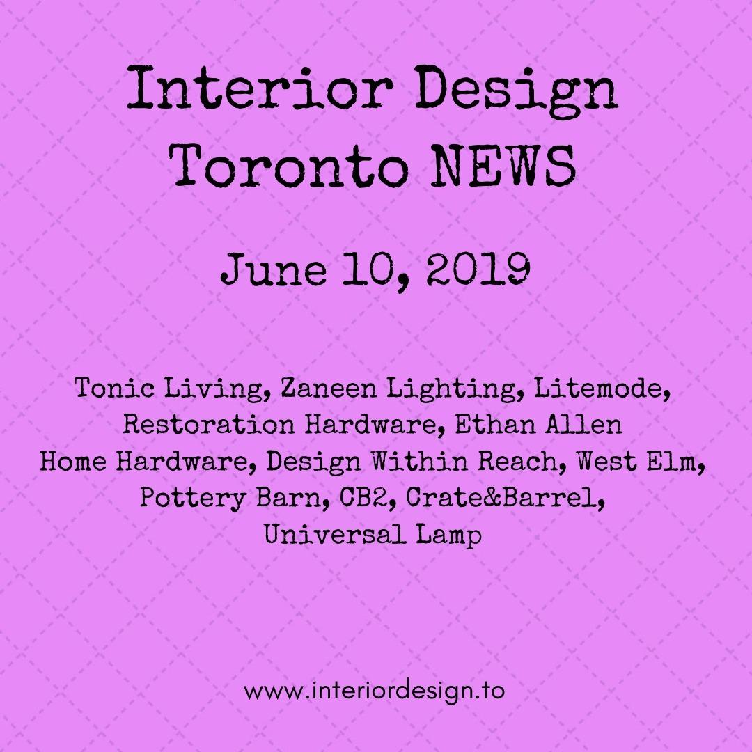 interior design toronto news - tonic living, zaneen lighting, litemode, restoration hardware, ethan allen, design within reach, CB2, Universal Lamp
