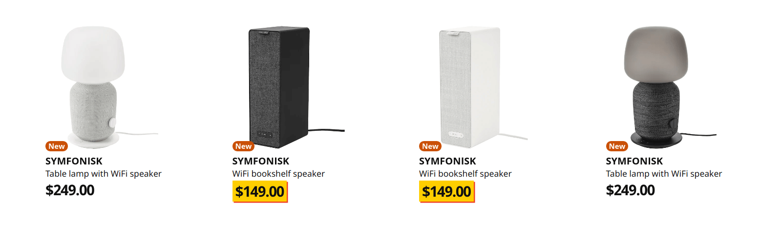 Ikea Symfonisk wifi speakers toronto
