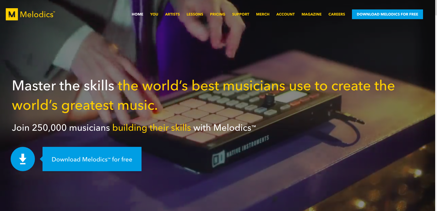 Melodics is a subscription based educational music software that will be host to special free Beatbox lessons with a promo code we will provide.