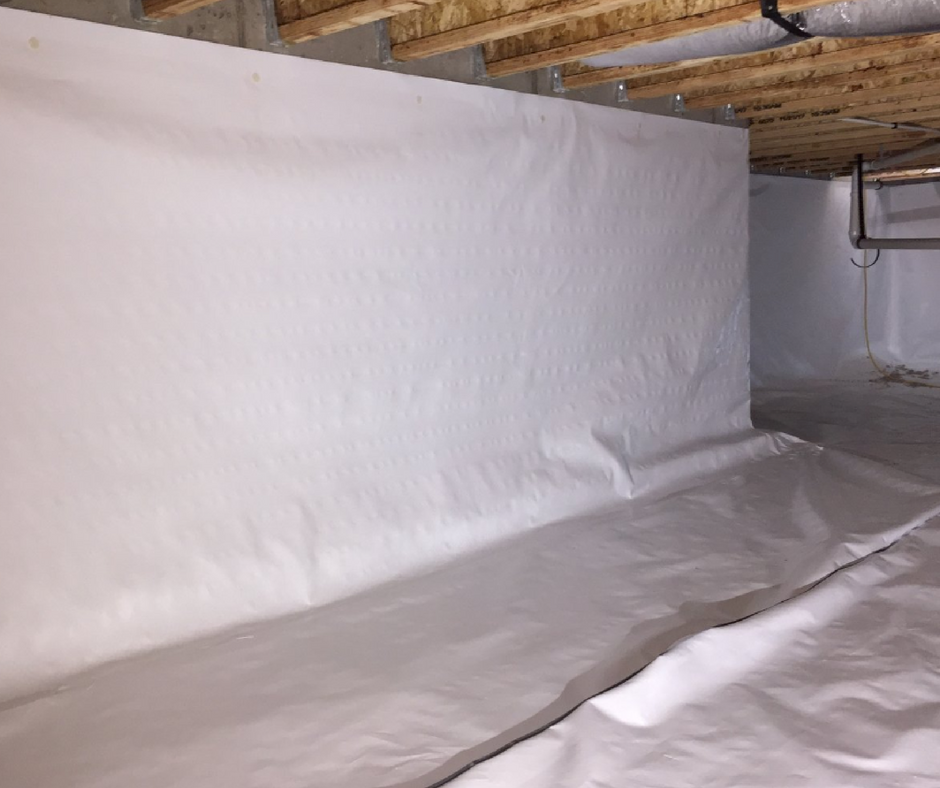 walls and floor crawl space moisture barrier