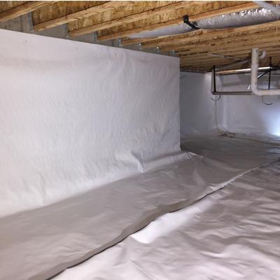 crawl space moisture barrier