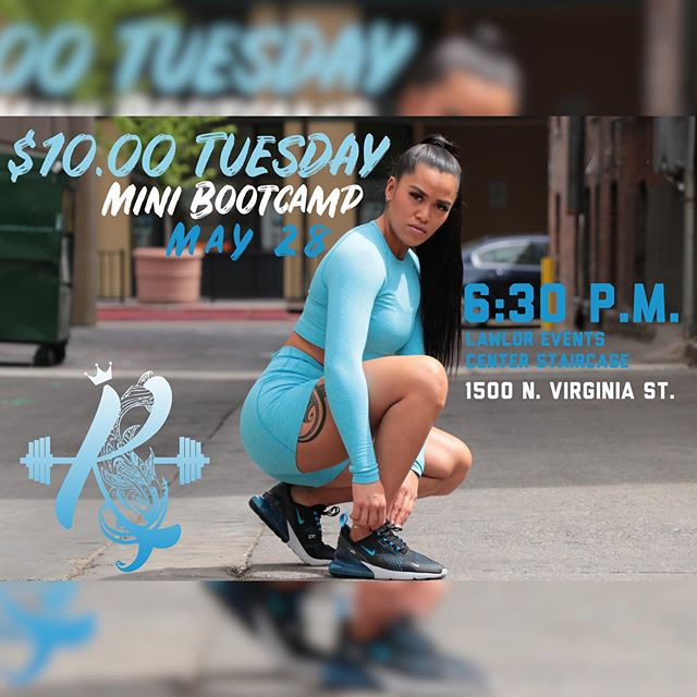 It's Thic Tuesday with @_alohakololia We'll be meeting at 1500 N Virginia St (Lawlor Event Center Stairs) at 630pm! Share this post and tag two friends to be entered for a chance To win a  @nike or @lululemon gift card  or some @underarmour swag! DONT BE LATE!  #nolimitsjustpossibilities #renofitness #personaltrainer #motivation #thicctuesday #unr #tmcc #thelab #reno #getfit