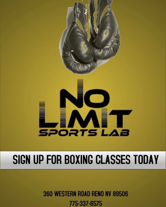 Come sign up for boxing sessions today!! #nolimitsportlab #nolimitsjustpossibilities #boxingtrainer #boxing #renofitness #renohealth #renonv #fitness #healthiswealth🌳💰💯 #boxingclass