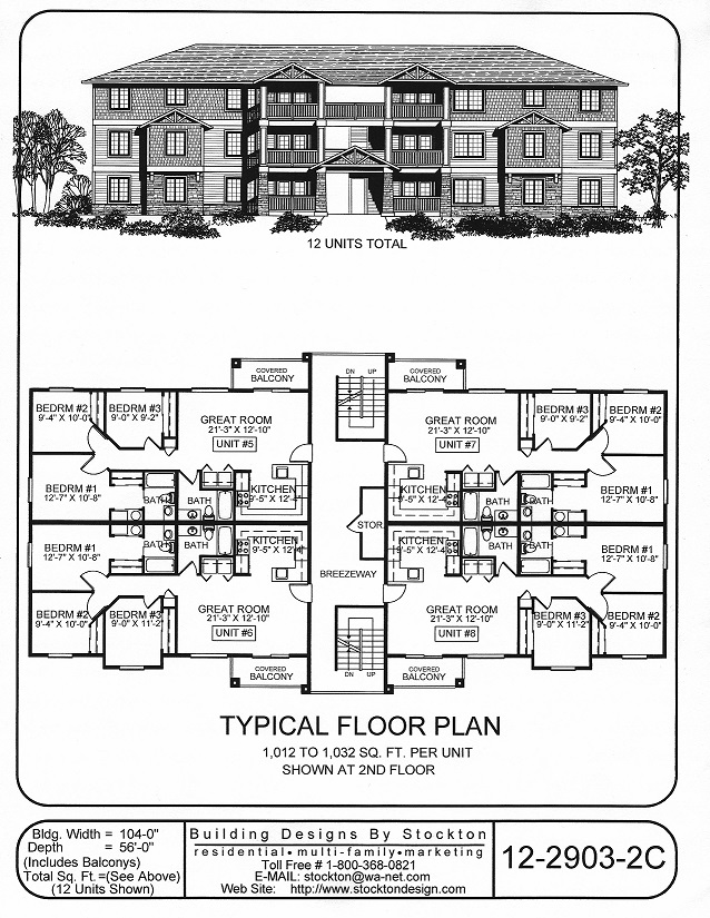 MULTI-FAMILY AND APARTMENT PLANS — JLG Construction LLC