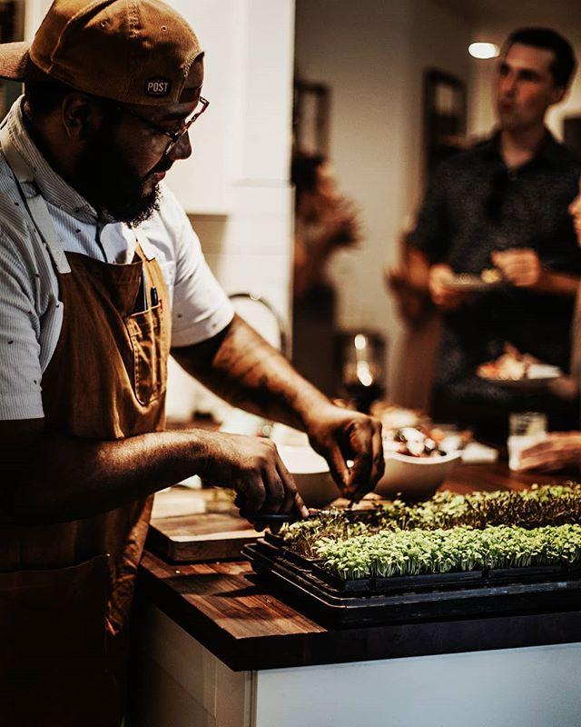 Markus clipping up some micro greens from @joesorganics right before dinner . . ✂️@mcarterfood 📸@shelbybellaphotography . . . . . . . . . . .#atxevents #foodlife #eat #Austin #supperclub #tastingtable #atx #austintx #Austin #popup #texas #texasdinners #365thingsaustin #do512 #igtexas #atxfood #atxfoodtime #dinnerparty #atxeatsandtreats #austininmymouth #austinfood #austinsecretkitchen  #austinfoodie #eataustin #atxfoodie #austinfoodstagram #austin360eats #eatlocal #atxlife #banana