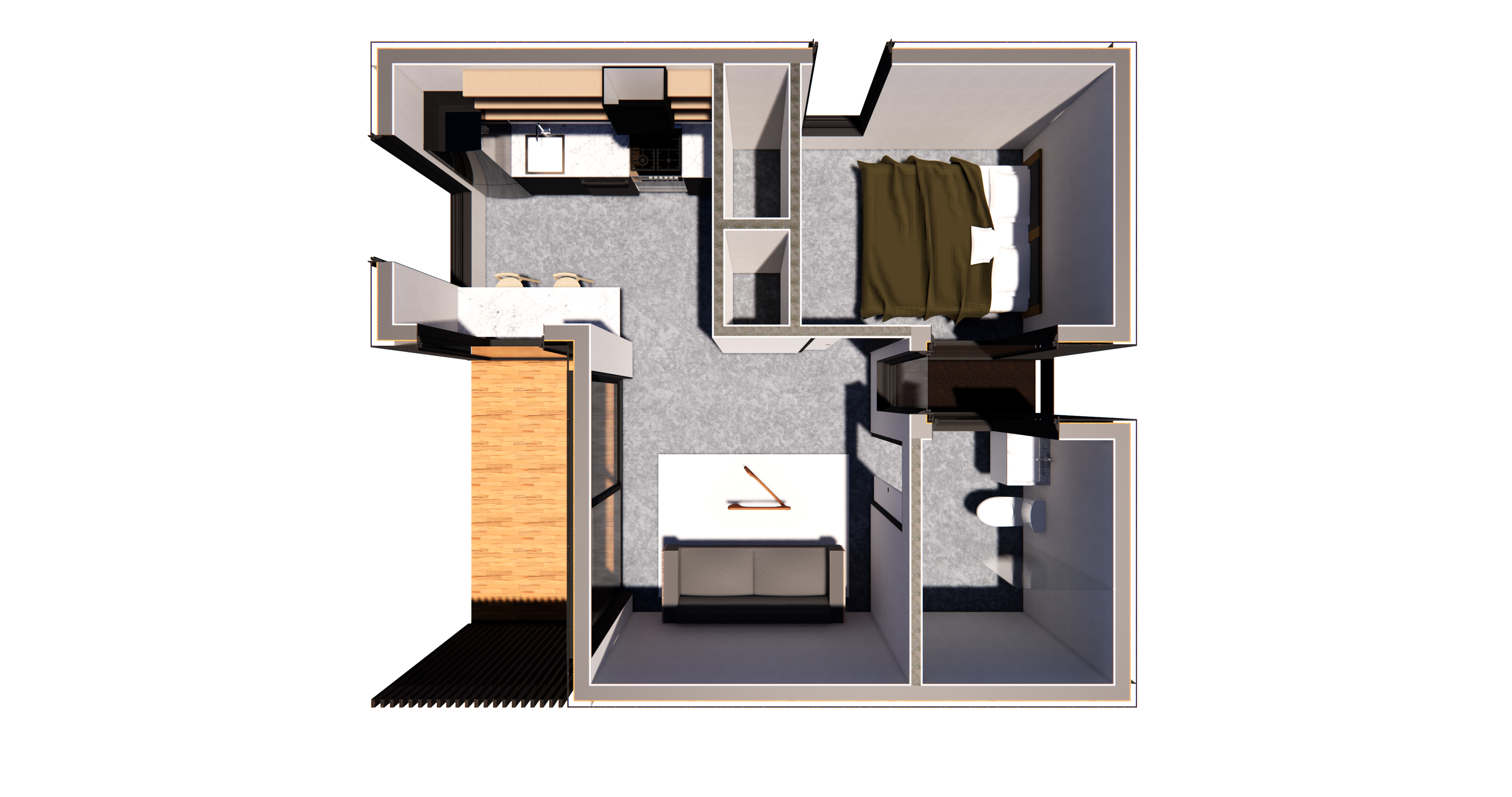 The Screen ADU sample floor plan